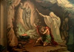 Saul consulta a necromante de En-Dor