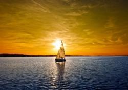 Meditação de por do sol - Símbolo do descanso espiritual em Cristo