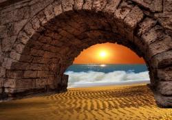 Meditação de pôr do sol - Treinamento em uma atmosfera alegre